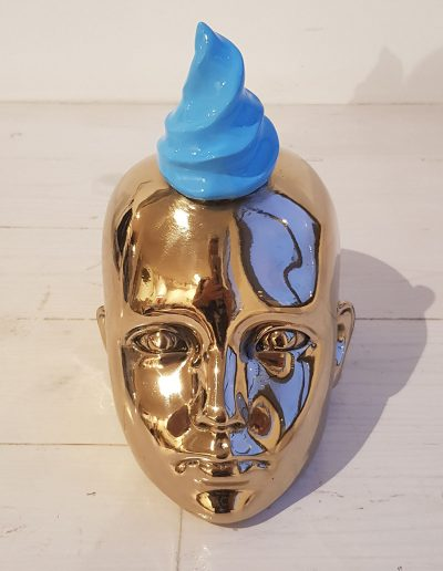 Bronze Head with Blue, 2018