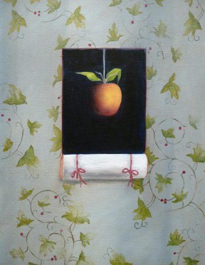Pommes Avec Arabesques Fond Bleu, 2012