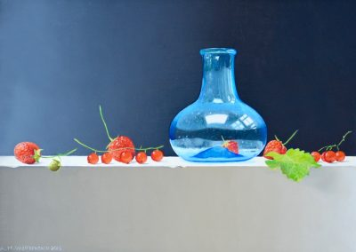 Summerfruit with Blue Glass, 2016