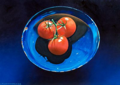 Tomatoes in Blue, 2016