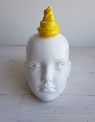 Yellow Ice Cream on the Head, 2018